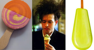 Robert Smiths from The Cure eats Ice-cream